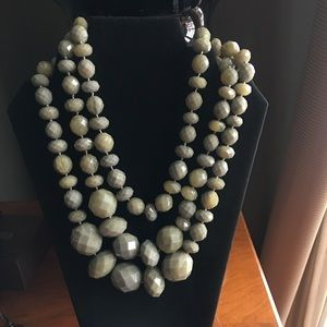 Kate Spade Statement Necklace, Gray